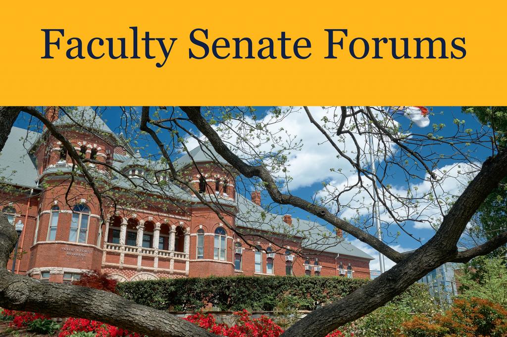 Faculty Senate Forums