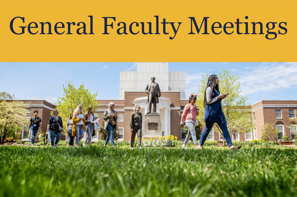 General Faculty Meetings