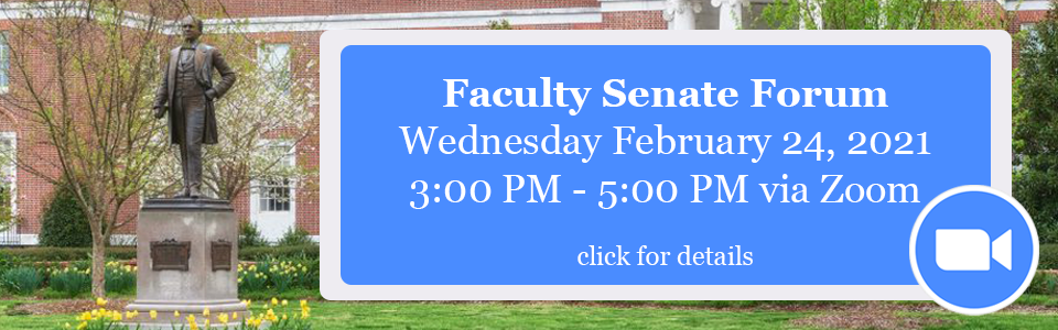 Faculty Senate Forum Feb 24 2021 Information
